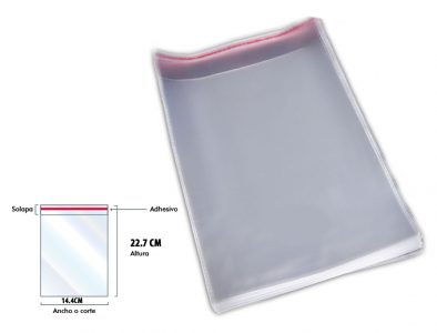 bolsa-de celofan-14.4 x22-adhesiva-transparente