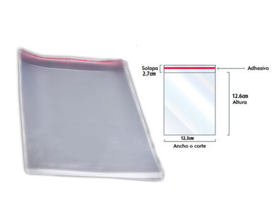 bolsa-de-celofan-con solapa-adhesiva-12.3cm x12.6cm